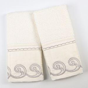 Kit-Toalha-Lavabo-Bordado-Ingles-Fio-Egipcio-Caracol-Marfim