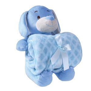 Manta-Bebe-Pelucia-FZ---Cachorrinho-Azul