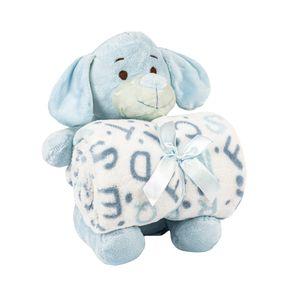 Manta-Bebe-Pelucia-CR---Cachorrinho-Azul