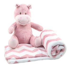 Manta-Bebe-Pelucia-FL---Hipopotamo-Rosa